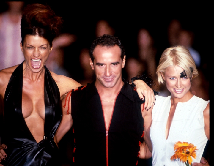 Lloyd Klein with Paris Hilton and Janice Dickenson